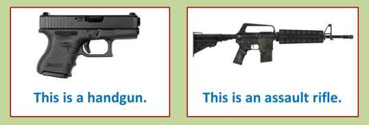 Hand Gun Assault Rifle