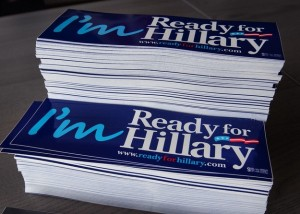 Ready for Hillary bumper stickers